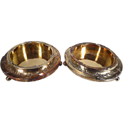 SALE Pair of Fine French Silver Gilt Bottle Coasters on Stands, JP MORGAN