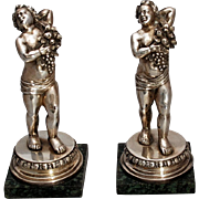 SALE Pair of Italian Silver Buccellati Style Figures