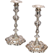 SALE Pair of English Sterling Silver Cast Candlesticks