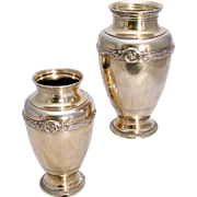 SALE Early 20th c. Pair of French Silver-Gilt Vases Boin-Taburet, Paris