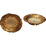 SALE A PAIR OF FRENCH SILVER-GILT FOOTED DISHES Late 19th/early 20th,