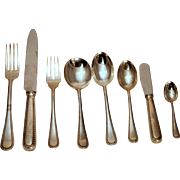 SALE Feather Edge by Buccellati Sterling Flatware Set - 81 pieces