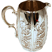 SALE Whiting Rococo Sterling Silver Pitcher
