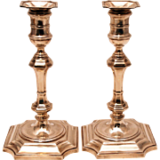 SALE Pair of Sterling Silver Cast Candlesticks