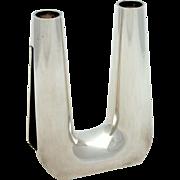 SALE Georg Jensen Sterling Silver Two-Light Candelabra #1087