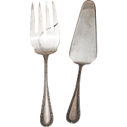 SALE Buccellati Italian Pattern Sterling Silver Fish Serving Set
