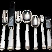 SALE Hampton by Tiffany Sterling Silver Flatware Set - 91 pcs.