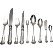 SALE Tiffany & Co. Sterling Silver Provence Flatware Set for 12