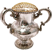 SALE Victorian Style Sterling Silver Three-Handled Loving Cup