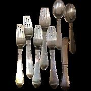 SALE Georg Jensen Continental Sterling Silver Flatware Set