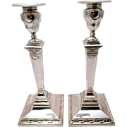 SALE Pair of Tiffany & Co. Sterling Silver Column Candlesticks