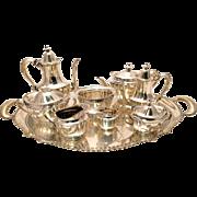 SALE Tiffany & Co. Sterling Silver Marquis Nine-Piece Tea Service