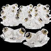 SALE Set of Twenty Jensen Style Silver-Gilt & Enamel Salt & Pepper Sets