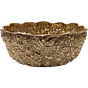 SALE Silver Flower Bowl in Repousse Design by Whiting