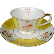 Ucagco China Demitasse Cup/Saucer Made in Occupied Japan Circa 1940's