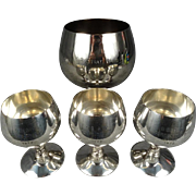 4 x Visiuc Silver Plated Goblets Commemorating the 98th Strategic Wing