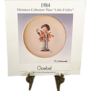 "1984 M.I. Hummel Miniature Collectors' Plate ""Little Fiddler"" By Goebel"
