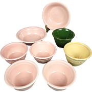 8 Piece Genuine Oven Serve Ware Bowls Made By T.S. & T Circa 1960's
