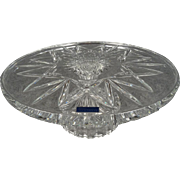 """Waterford 11"""" Marquis Cake Plate and Server"""