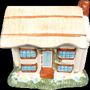 Ceramic Chimney House Cookie Jar