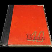 Paseo High School 1940 Yearbook Kansas City Missouri