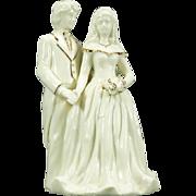 Baum Bros. Bride And Groom Porcelain Figurine From Formalities Line C. 1980s