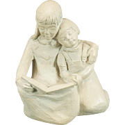 Austin Productions Sister Reading To Sister Figurine C. 1981