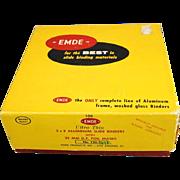 EMDE Ultra Thin 2x2 Aluminum Slide Binders With 35MM D.F. Foil Masks