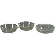 Anchor Hocking Fire-King Set Of 3 Clear Glass Baking Bowls