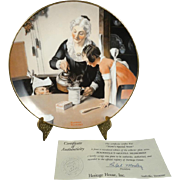 "Heritage House Norman Rockwell Decrative Plate ""Mom's Special Treat"""