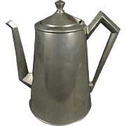 Crescent Made Pewter Coffee Pot