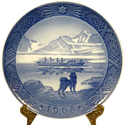 Royal Copenhagen Porcelain 1968 'The Last Umiak' Plate