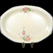 "Homer Laughlin Vintage Octagonal Serving Platter 15"" Wild Rose Yellowstone"
