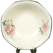 Homer Laughlin Vintage Octagonal Cereal Wild Rose Yellowstone