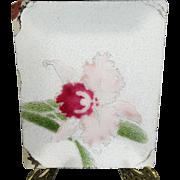 Tutanka Cloisonne Floral Enamel Tray