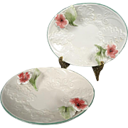 Floral Trinket Tray/Dish Made in Italy Set Of 2