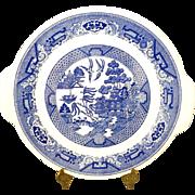 "Royal (USA) Handled Cake Plate ""Blue Willow"" Design Pattern"