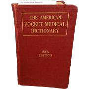 The American Pocket Medical Dictionary 18th Edition