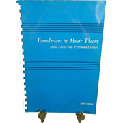 Foundations in Music Theory Second Edition with Programmed Excercises