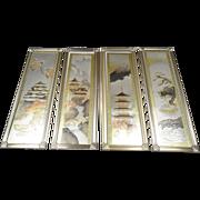 Framed Asian Prints Set Of 4