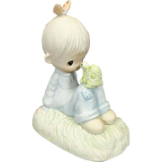 "Enesco Precious Moments Collection ""Love Is Kind"" 1978 Ceramic Figurine"