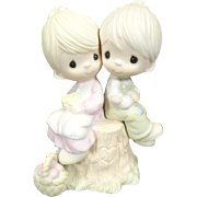 "Enesco Precious Moments ""Love One Another"" Ceramic Figurine"