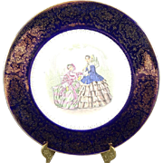 Salem China Co. Imperial Service Plate with 23K Gold Trim