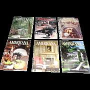 Americana 1987,1988,1990 Magazines Lot Of 6