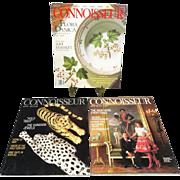 Connoisseur 1987,1988,1990 Magazine Lot Of 3