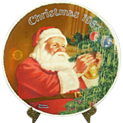 "Edwin Knowles ""Santas Golden Gift"" Collectors Plate"