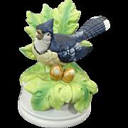 Mann Music Box Figurine Blue Jay Plays Memories