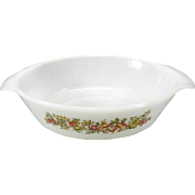 "Anchor Hocking Fire King Le Bon Potager 1 1/2"" Qt. Oval Serving Dish"