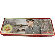 Vintage Russell Stover Tin Chocolate Box with Elvis Presley on Front