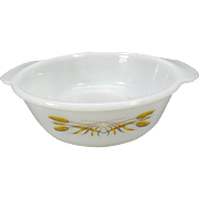 Anchor Hocking Fire King Wheat Pattern #447 Round 1 1/2 Qt Casserole Dish